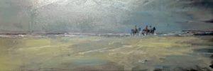 Theo Wolfs - Paarden op het strand