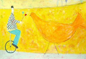 Annora Spence - Unicycle and bird