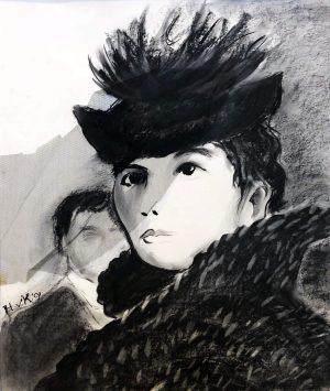 Harry van Koningsveld - Portret van een dame