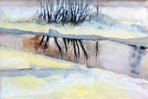 Annemarie IJssels - Bomen spiegeling