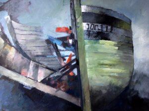 Igor Kusmirak - Opengebarsten schip in Bretagne