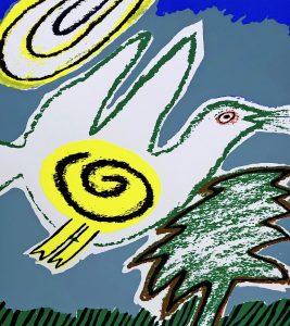 Corneille - Oiseau avec l'arbre