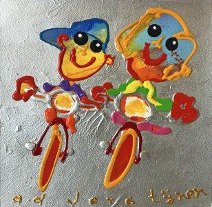 Ad Verstijnen - Twee fietsers