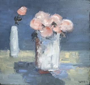 Theo Wolfs - Stilleven met rozen