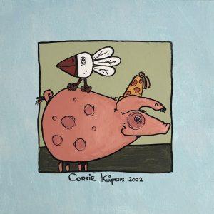 Corrie Kuipers - Varken en vogel