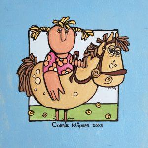 Corrie Kuipers - Paard en vrouw