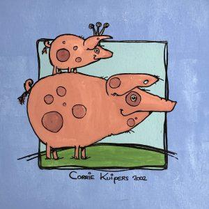 Corrie Kuipers - Twee varkens