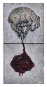Gert Jan Slotboom - Lam met placenta